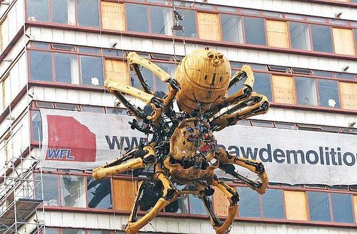 Ginormous robot spider invades Liverpool, England