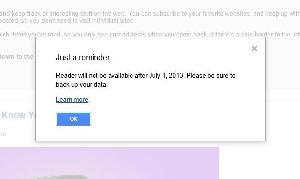 RIP: Google Reader