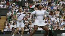 'Brilliant' Serena Williams lifts Andy Murray into Wimbledon's 3rd round in mixed doubles