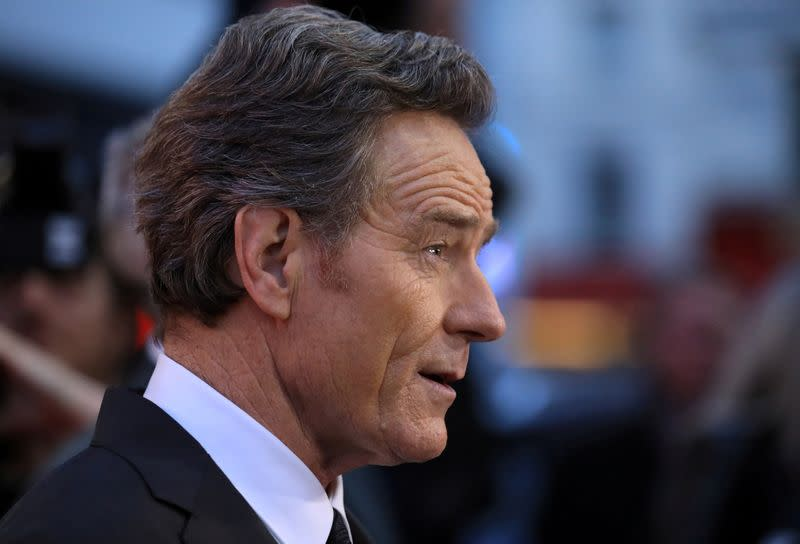 "FILE PHOTO: Cast member Bryan Cranston arrives for the premiere of ""Last Flag Flying"" during the British Film Institute London Film Festival at the Odeon, Leicester Square, in London"