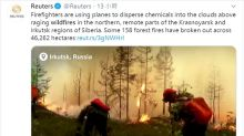 西伯利亞現百起野火 俄出動炸彈與人造雨控火勢