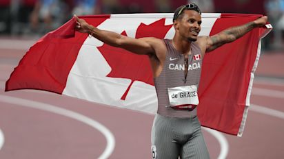 Andre De Grasse powers to 200m gold in Tokyo