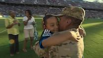 Air Force mom back from Afghanistan surprises son