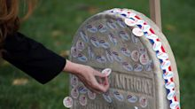 Women Are Placing Their 'I Voted' Stickers On Susan B. Anthony's Grave