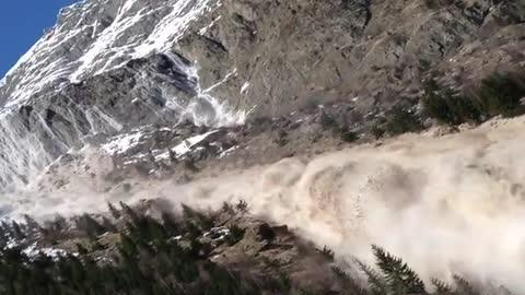 Massive Landslide In the French Alps