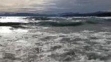 Fierce Winds Whip Waves on Lake Tahoe
