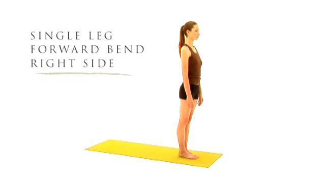 Single Leg Forward Bend Right