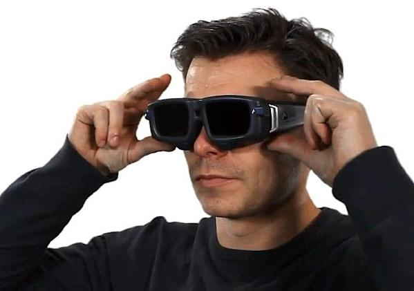 SMI Eye-Tracking 3D Glasses use rim-based cameras to adjust perspective