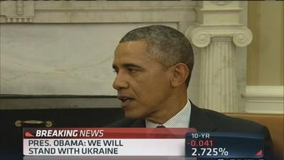 Pres. Obama offers support to Ukraine