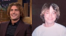 Zac Efron Reunites With Crimped Hair, Gets Wet