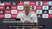 Ich bin glücklich darüber bei Real Madrid zu sein - Zidane