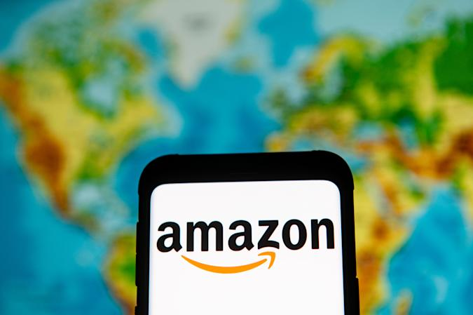 POLAND - 2020/03/23: In this photo illustration an Amazon logo seen displayed on a smartphone. (Photo Illustration by Mateusz Slodkowski/SOPA Images/LightRocket via Getty Images)