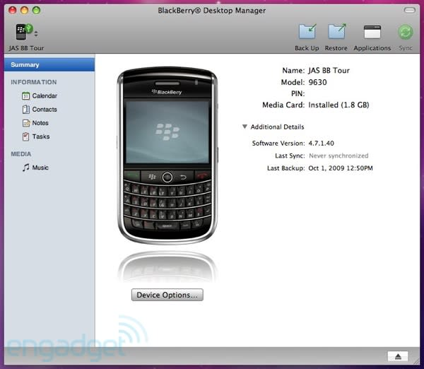 BlackBerry Desktop Manager for Mac now available, we go hands-on