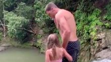 Tom Brady Faces Criticism for Jumping Off a Waterfall with His Daughter Vivian, 6