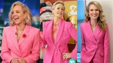 The pink power suit taking over Aussie TV