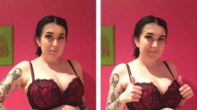 This girl's body-confident pics with and without shapewear are going viral