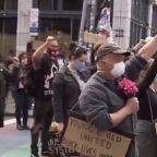 Peaceful protests held same day as George Floyd memorials