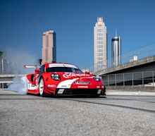 View Photos of Porsche's 911 RSR in Coke Livery
