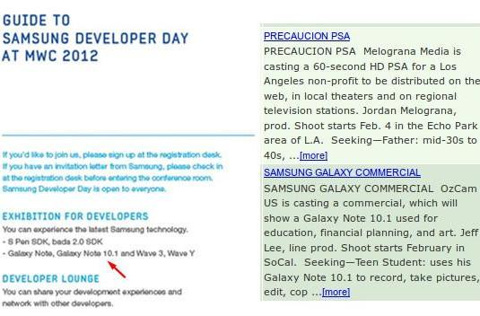Samsung Galaxy Note 10.1 to debut at MWC? Definitely, maybe.