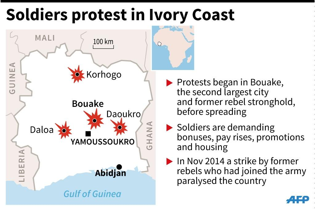 Unrest in Ivory Coast (AFP Photo/Alain BOMMENEL, Sophie RAMIS)