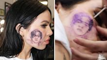 Girl with face tattoo of Harry Styles admits it was fake