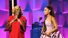 Ariana Grande chokes up accepting award, declares this year 'one of the best' of her career but 'worst of my life'