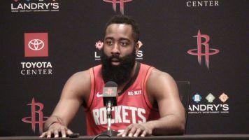 """Harden llega a la """"burbuja"""" para unirse a los Rockets"""