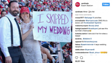 Cardinals newlyweds skip wedding reception to watch team lose