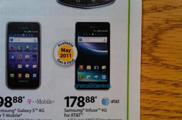 Walmart to Sell Samsung Infuse 4G in May for $178.88?
