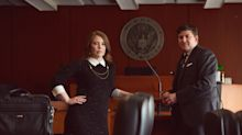 These young lawyers took their engagement photos in a courtroom