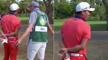 'Stop being crazy': Caddie's epic spray for stubborn golfer