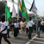 "Myanmar activists stage ""bloody"" protests against military"