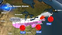 Late winter storm: 2,000-mile swath of snow from the Plains to Maine