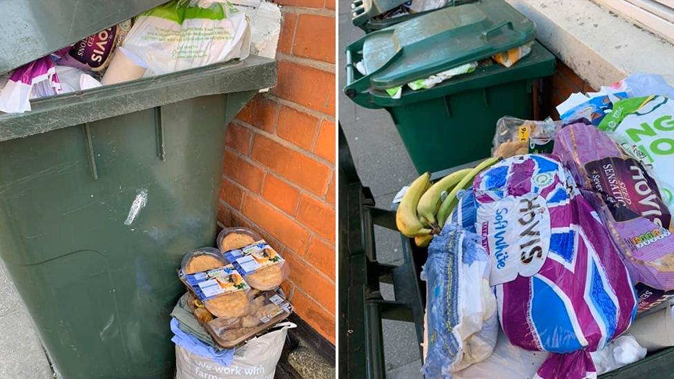 Outrage over bins overflowing with discarded groceries