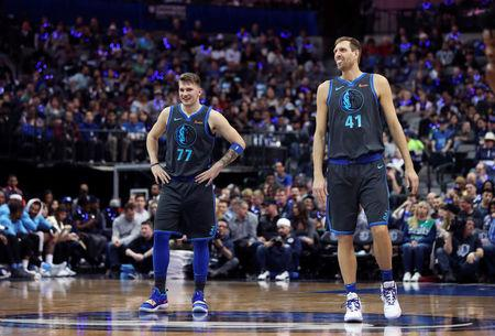 NBA  Nowitzki and Doncic have fans cheering Mavs  past and future ea5f4d279