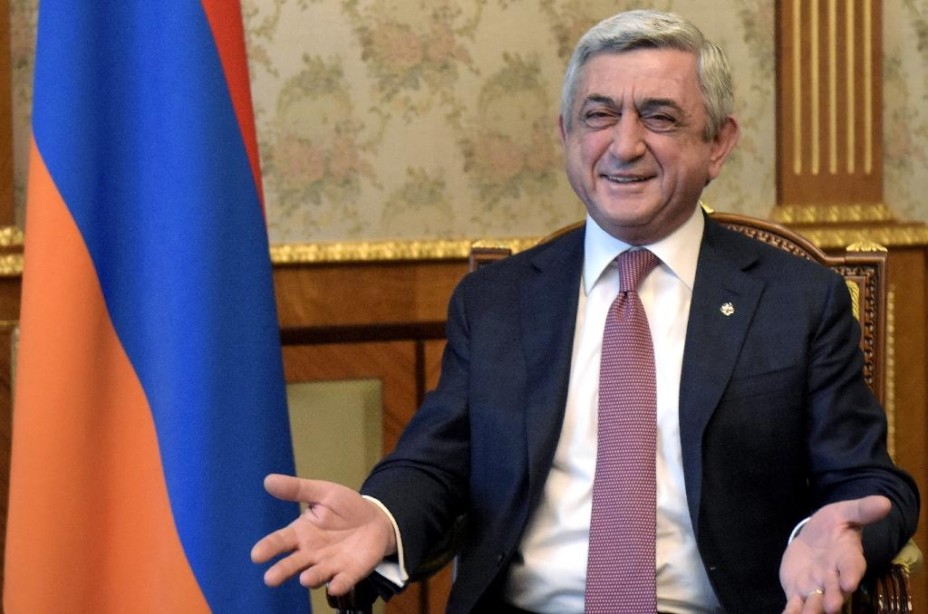 Armenia's ex-president Serzh Sarkisian began his political career when war erupted in the late 1980s with neighbouring Azerbaijan (AFP Photo/KAREN MINASYAN)