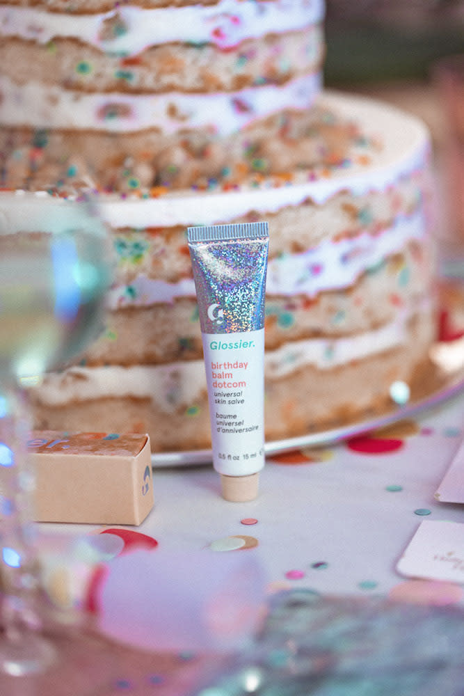 Get Your Sweet Tooth Ready Because Glossiers New Birthday Balm Dotcom Launched Today