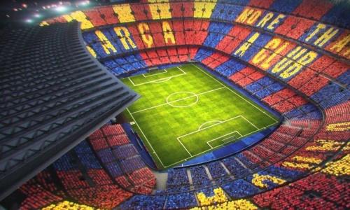 Barça-Juventus: un tifo exceptionnel à 360° au Camp Nou