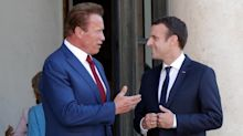 Macron e Schwarzenegger contro Trump: Make the planet great again