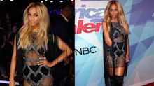 Tyra Banks slays a netted outfit for the 'America's Got Talent' finale