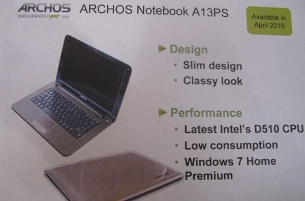 Updated Archos 13 laptop to roll out next month
