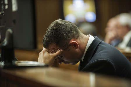 Oscar Pistorius durante julgamento na África do Sul