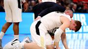 Purdue's Haas might play despite broken elbow