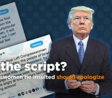 Trump says congresswomen he called out should apologize to him