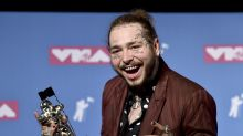 The Latest: Post Malone tweets thanks after jet lands safely
