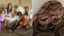 Ivete Sangalo recebe 'visita' de cobra em casa