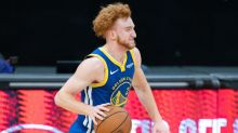 Warriors' Nico Mannion scores first NBA point, records four assists