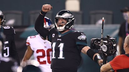 Eagles rally as Giants collapse down stretch