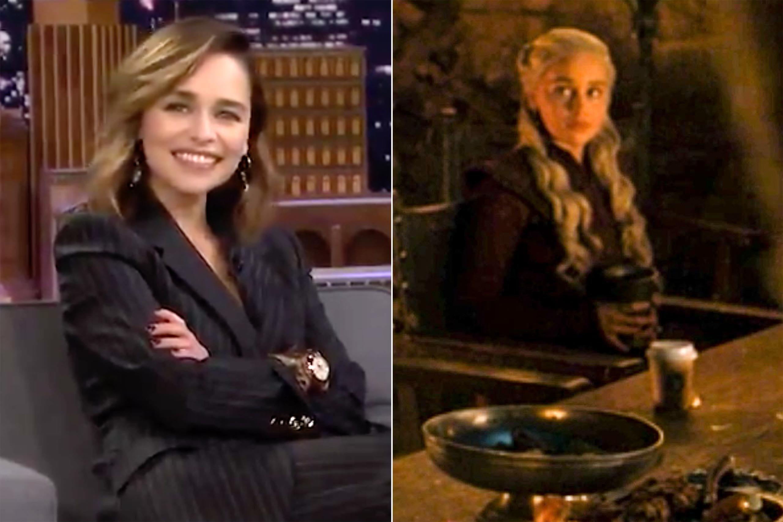 WATCH | Emilia Clarke reveals 'Game of Thrones' coffee cup