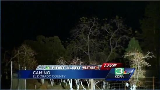 Winds blow through El Dorado County